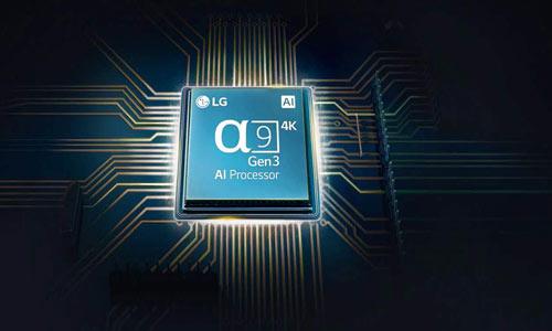چیپ پردازشگر α9 Gen2 AI Processor 4K تلویزیون الد ال جی C9