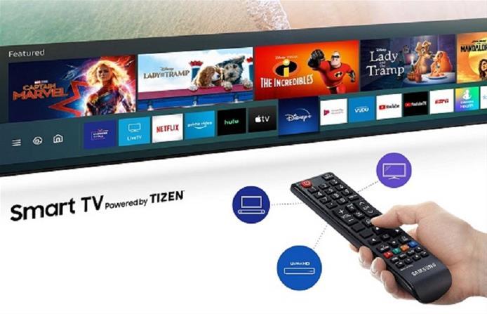 عکس تلویزیون همراه کنترل 55 اینچ مدل TU8000