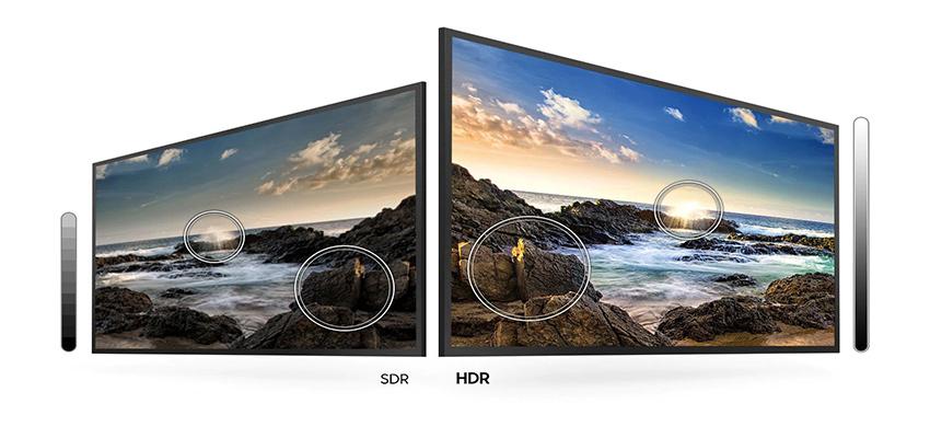 مقایسه HDR در تلویزیون سامسونگ 55 اینچ TU8000