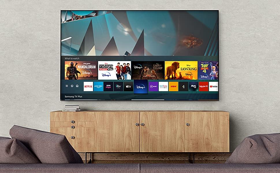 نمای زیبا تلویزیون روی پایه بغل در اتتاق